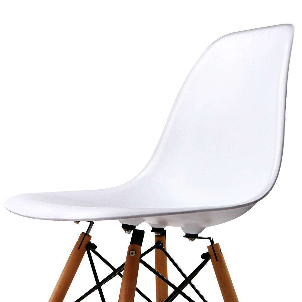 Set of 4 Replica Eames Eiffel Dining Chairs White - Desirable Home Living