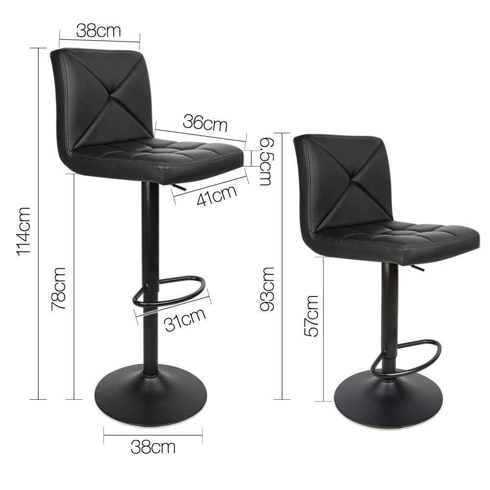 Set of 2  Leather Bar Stools - Desirable Home Living