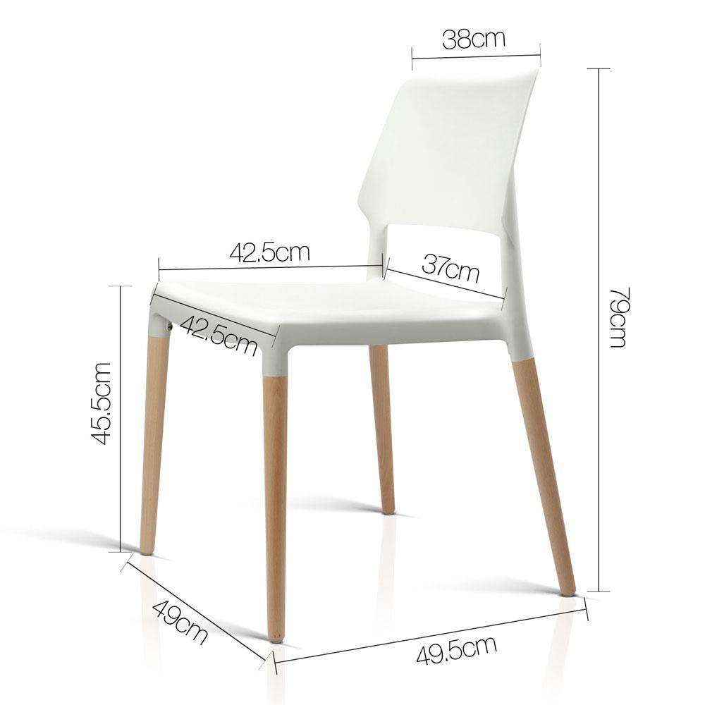 Set of 4 Belloch Replica Dining Chair - White - Desirable Home Living