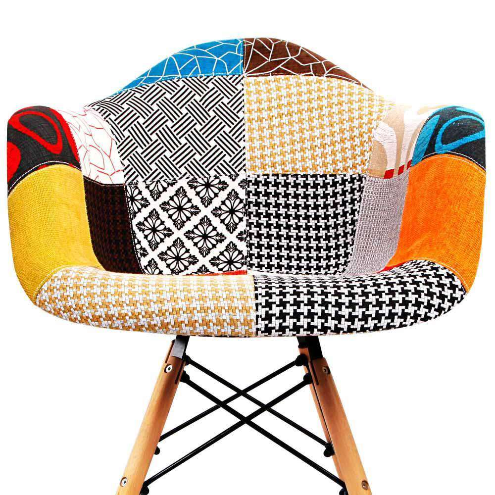 Set of 2 Replica Eames Armchairs Fabric - Desirable Home Living