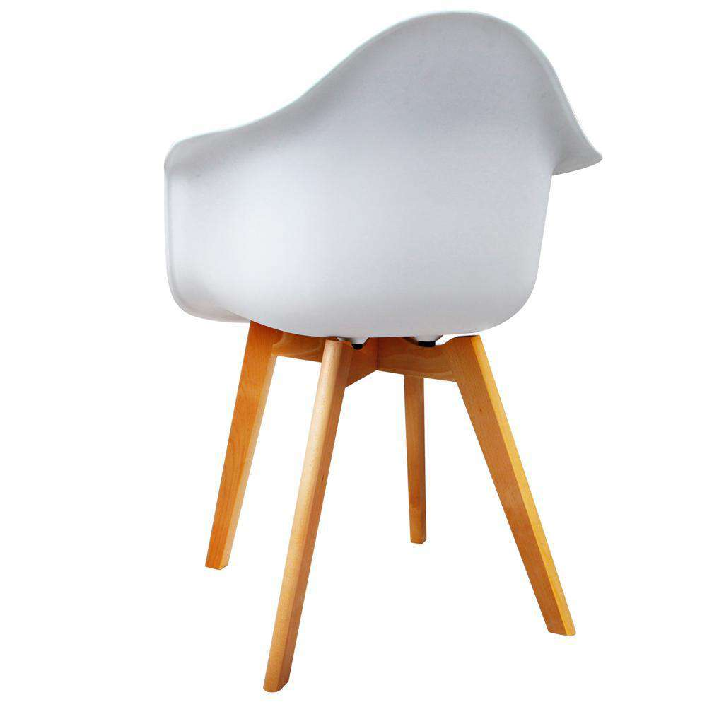 Set of 2 Replica Eames Armchairs White - Desirable Home Living
