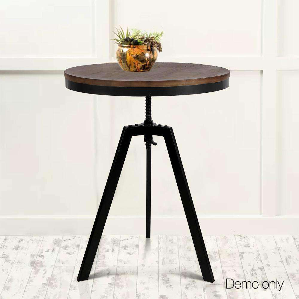 Industrial Dining Table Dark Brown and Black - Desirable Home Living