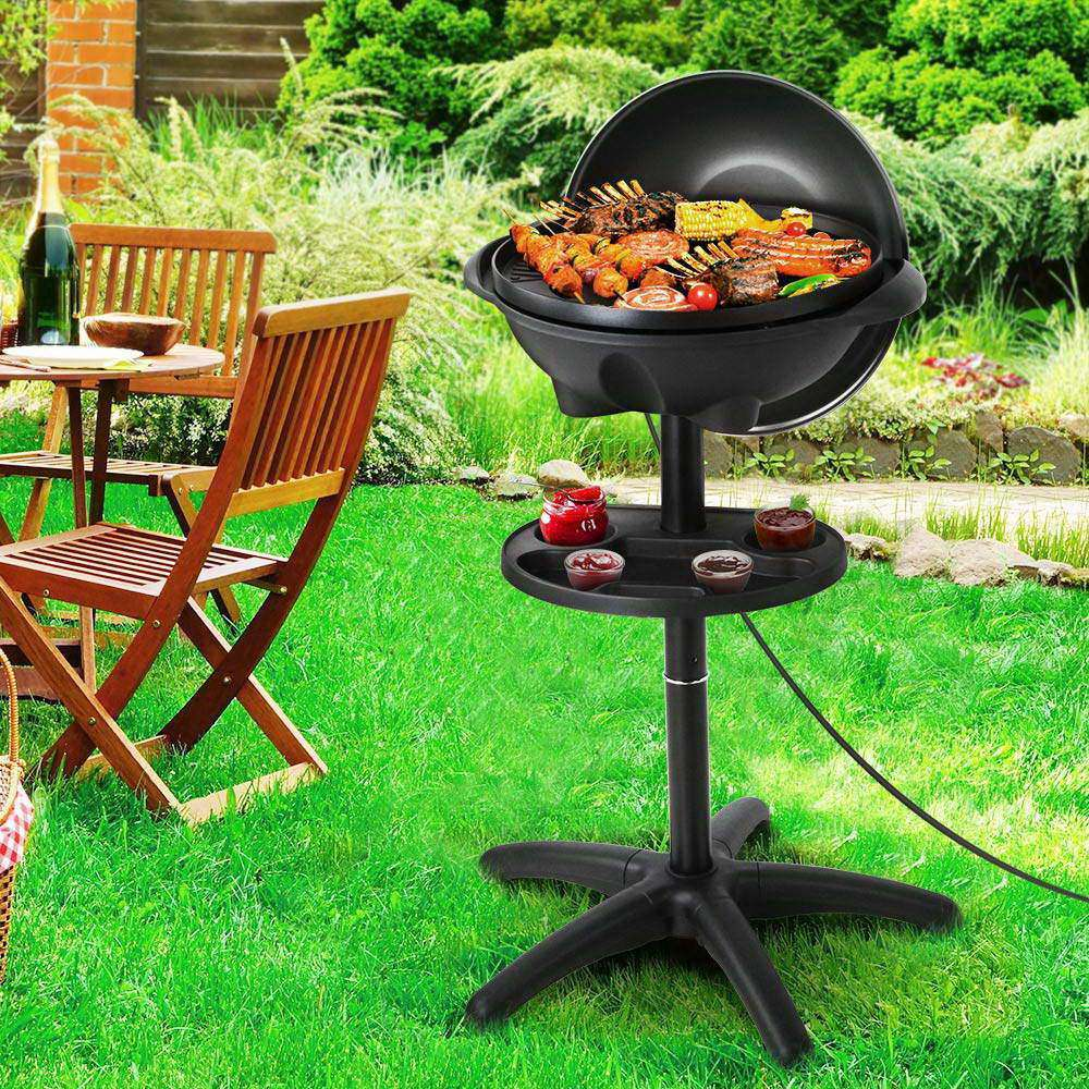 Portable Electric BBQ With Stand - Desirable Home Living
