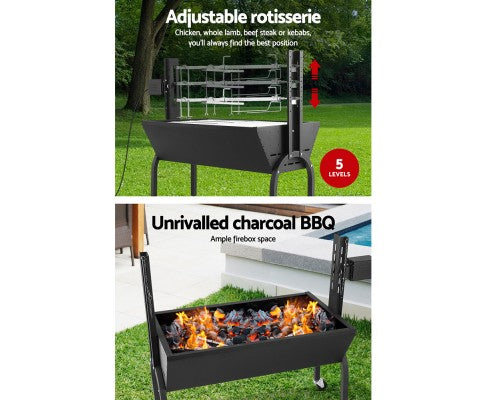 Grillz Electric Rotisserie BBQ Spit Roaster
