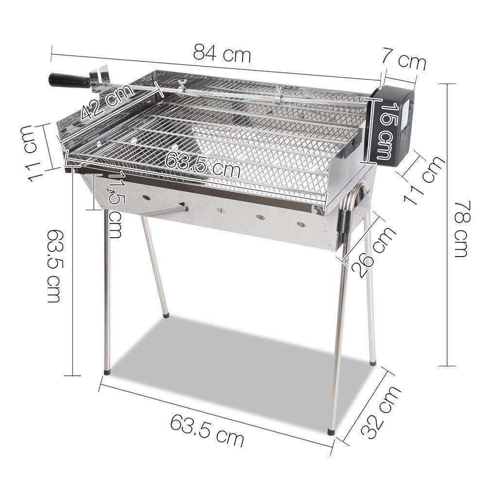 Portable Spit Roaster with 3V Rotisserie - Desirable Home Living