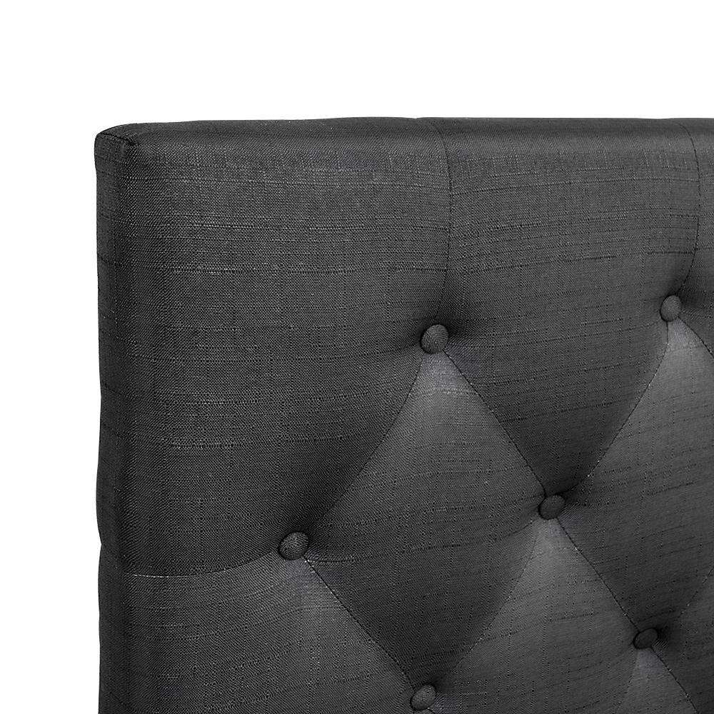 Artiss Queen Size Upholstered Fabric Headboard - Charcoal