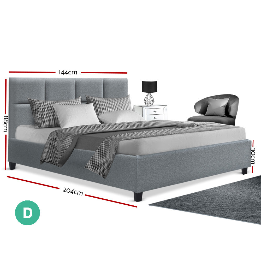 Artiss TINO Double Size Bed Frame Grey