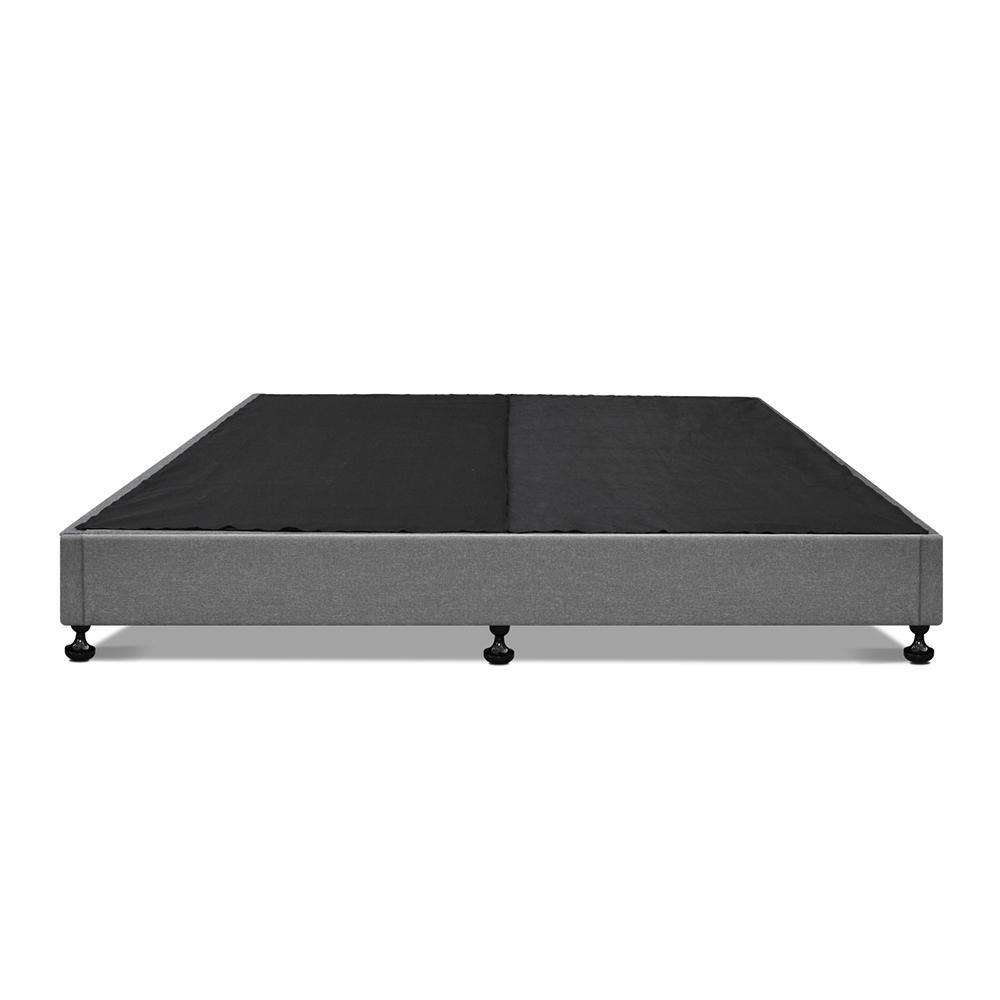 King Polyester Fabric Bed Base Grey - Desirable Home Living