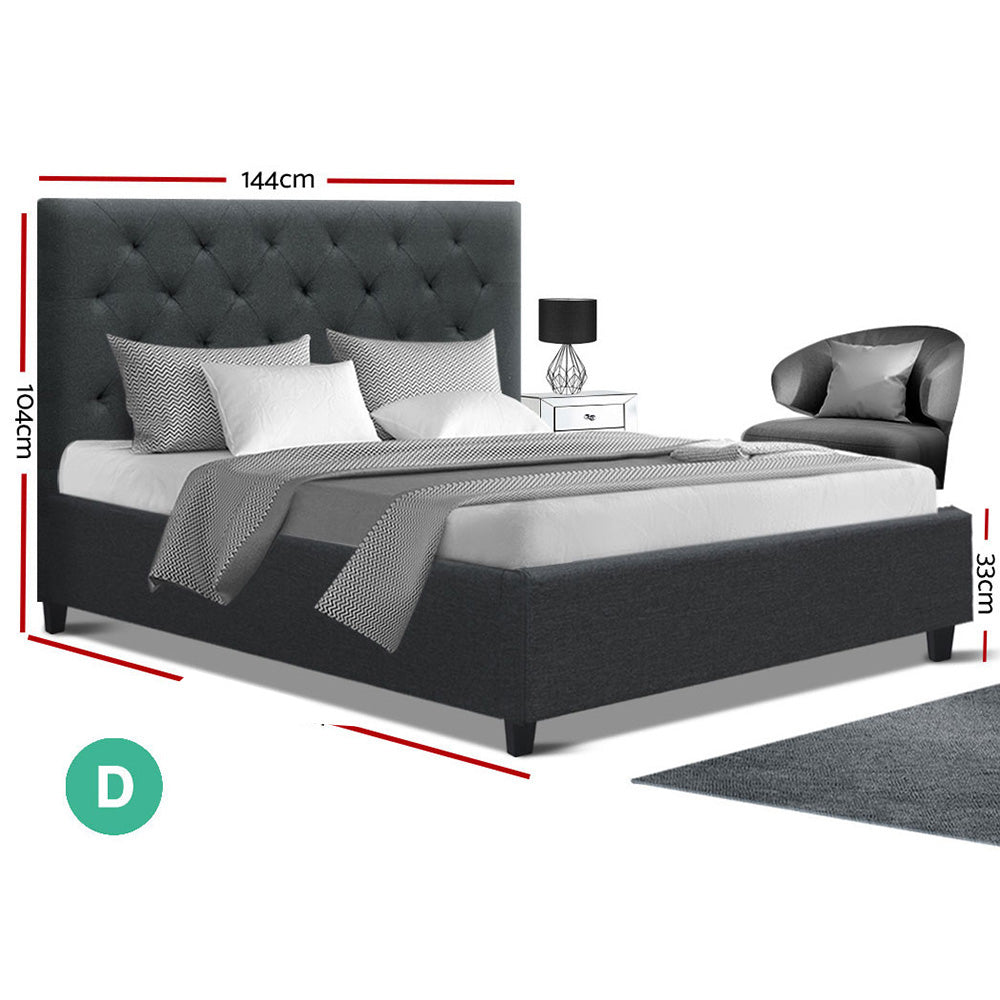 Artiss VAN Double Size Bed Frame Charcoal