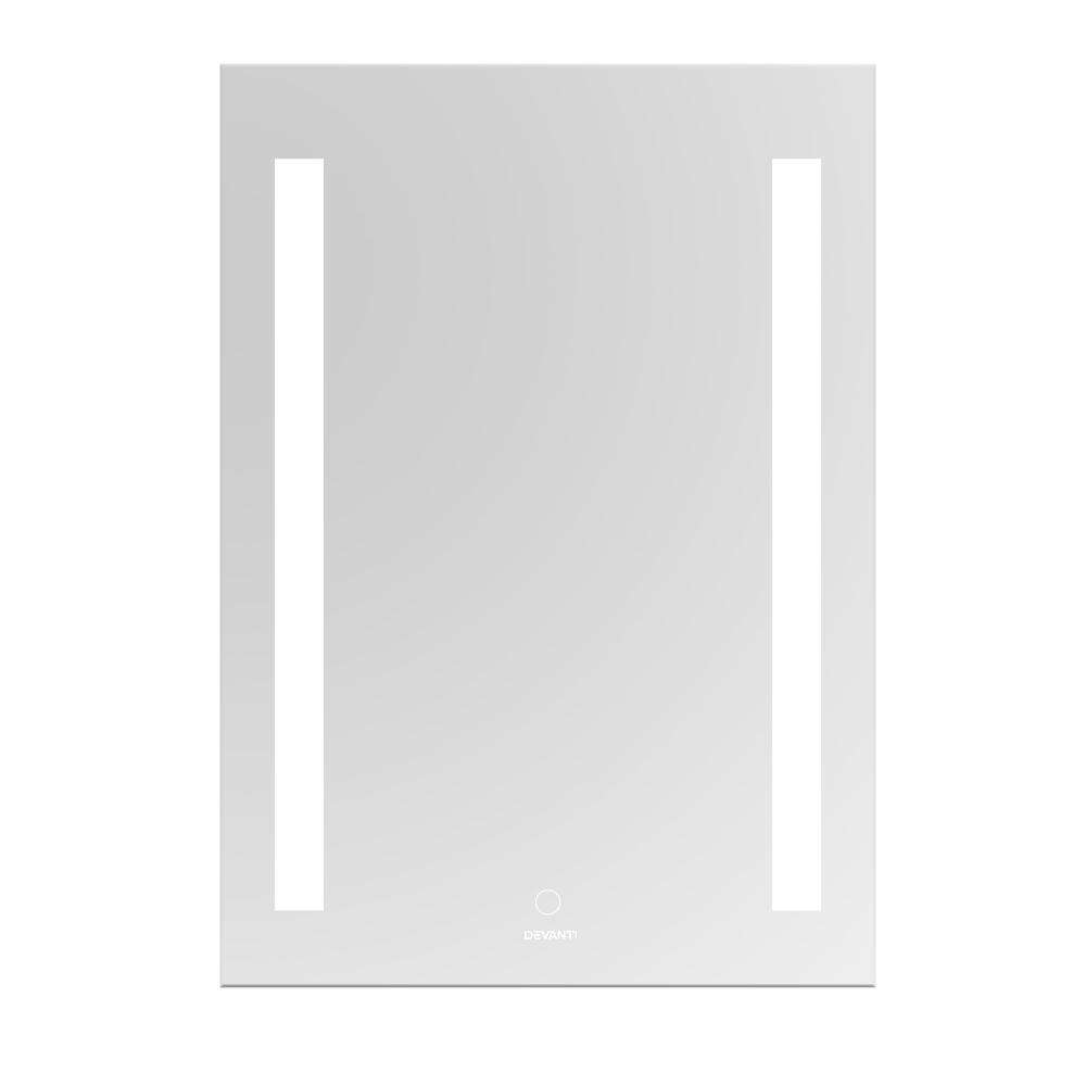 Devanti Bathroom Wall Mirror LED Illuminated Light Makeup Dressing Vanity Touch Switch 500mmx700mm