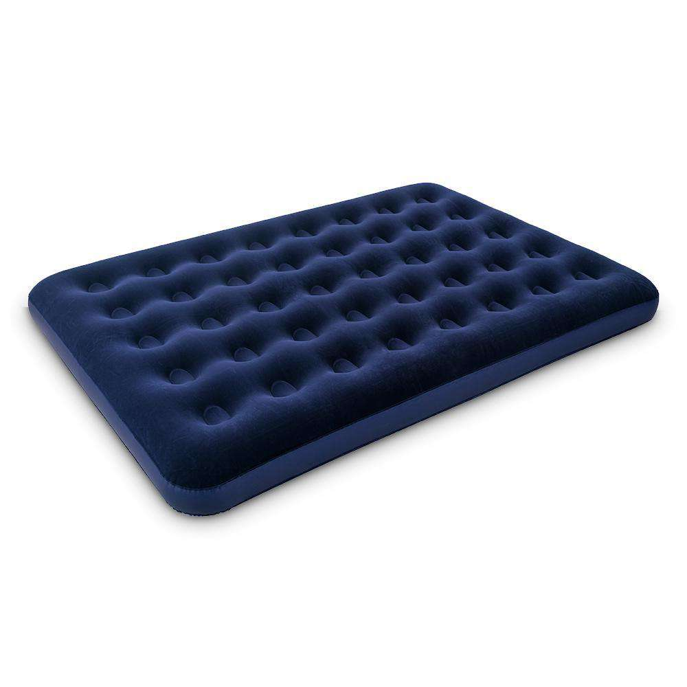 Bestway Inflatable Air Bed with Carry Bag - Blue - Desirable Home Living