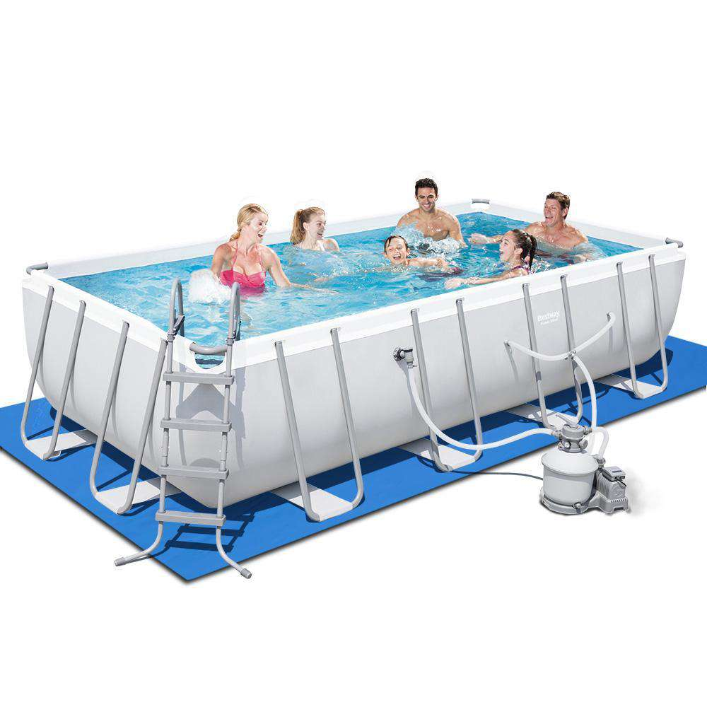 Bestway Round Frame Power Steel Above Ground Swimming Pool