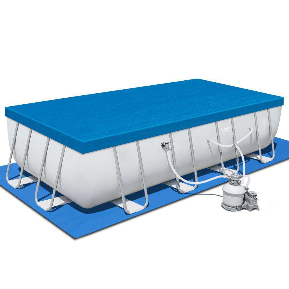 Bestway Rectangular Frame Power Steel Above Ground Swimming Pool