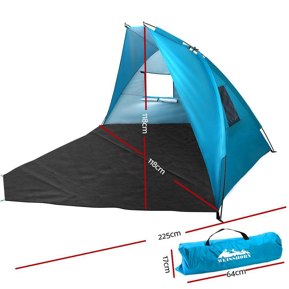 WEISSHORN 2-4 Person Camping Tent Beach Sun Shade Shelter