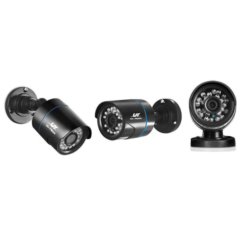 1080P Four Channel HDMI CCTV Security Camera Black - Desirable Home Living