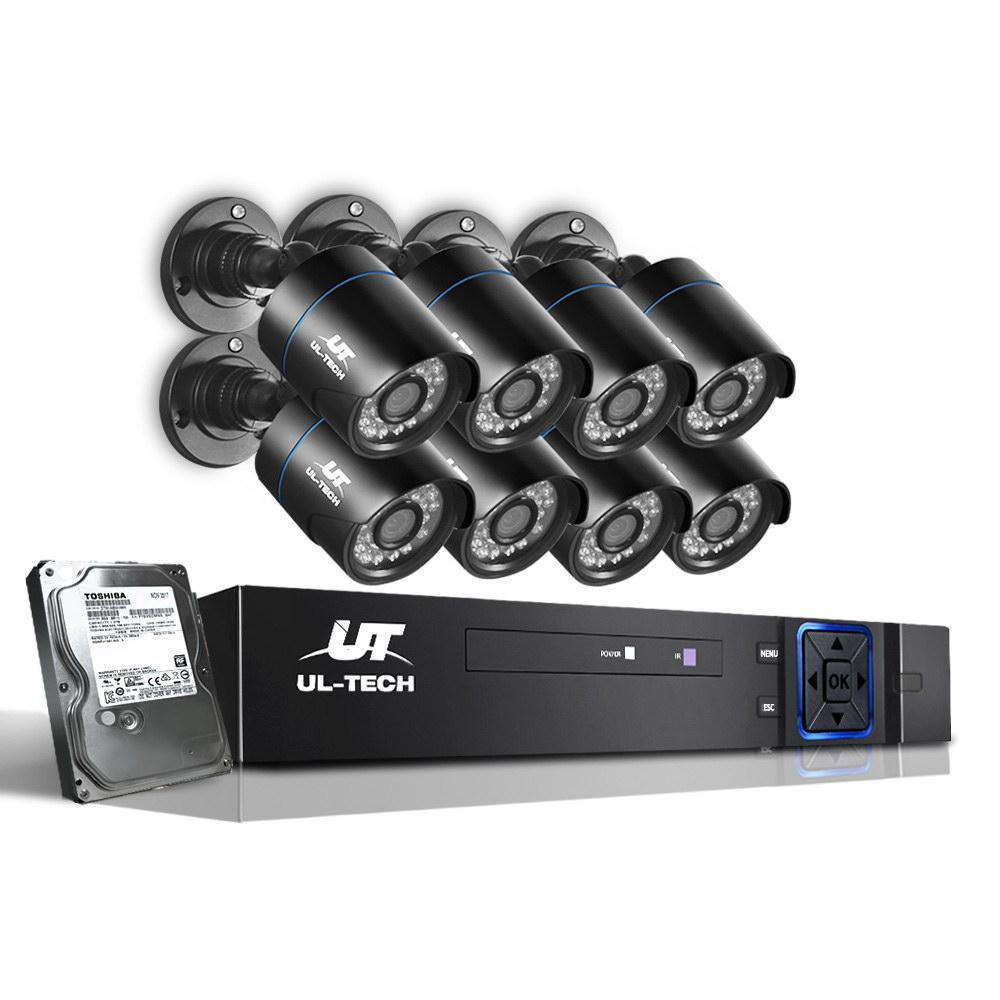 1080P Eight Channel HDMI CCTV Security Camera 1 TB