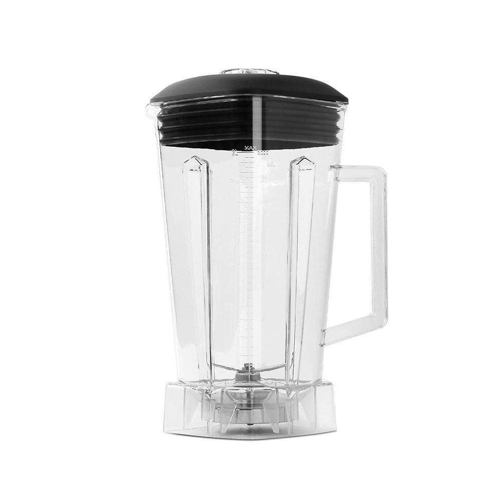 2-in-1 Food Processor & Blender 2L - Red - Desirable Home Living