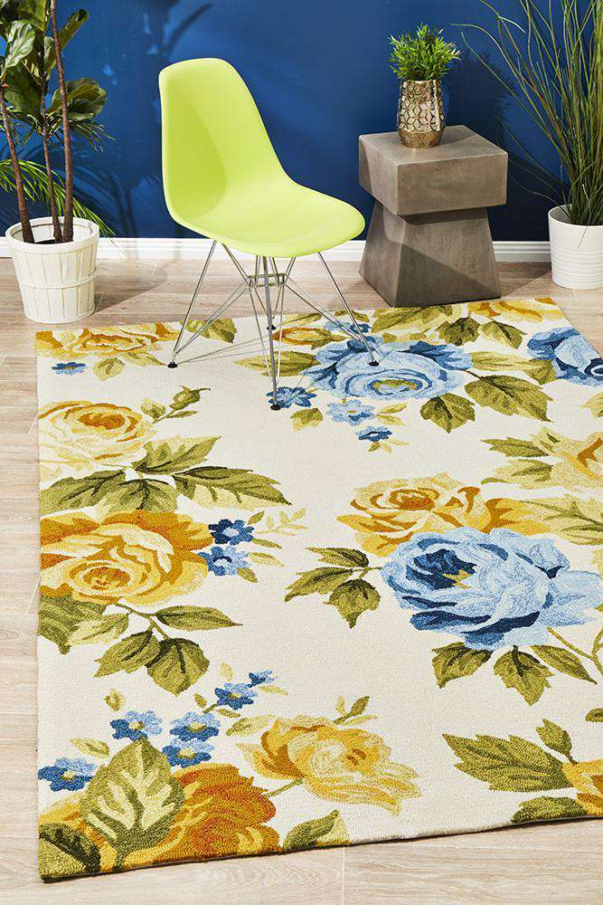 Copacabana Jessica New Spring Indoor Outdoor Rug Cream