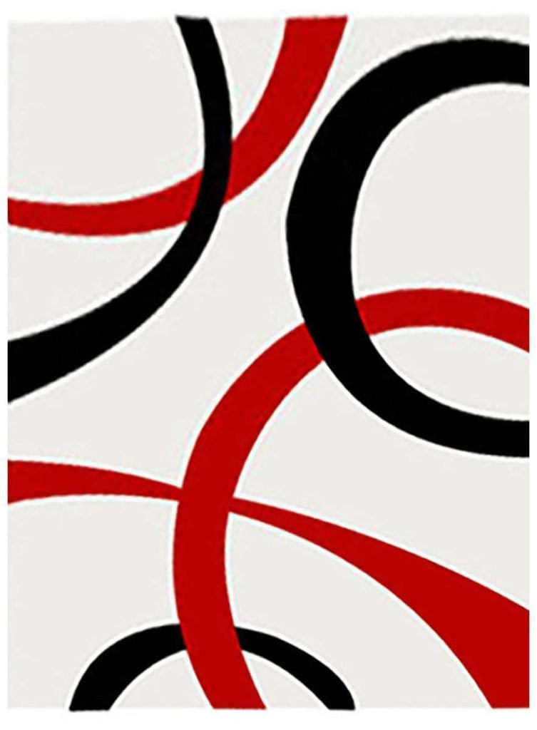 Cosmo Collection 2290 Red And Black Rug
