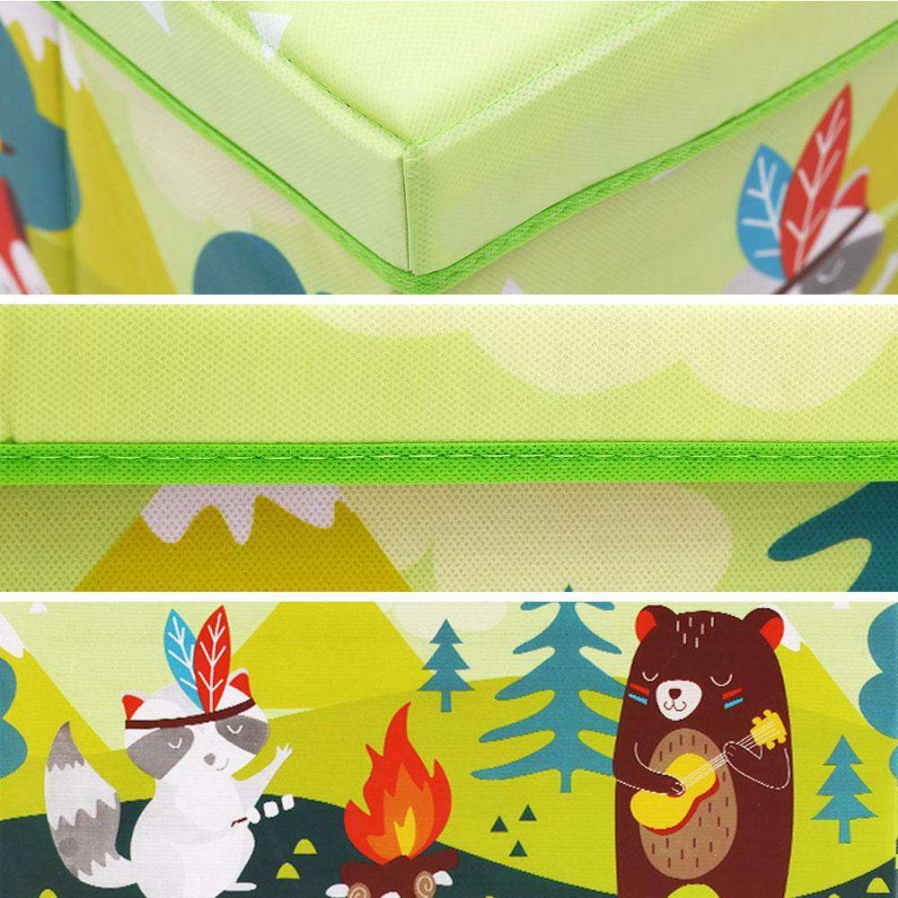 Kids Foldable Storage Toy Box - Light Green