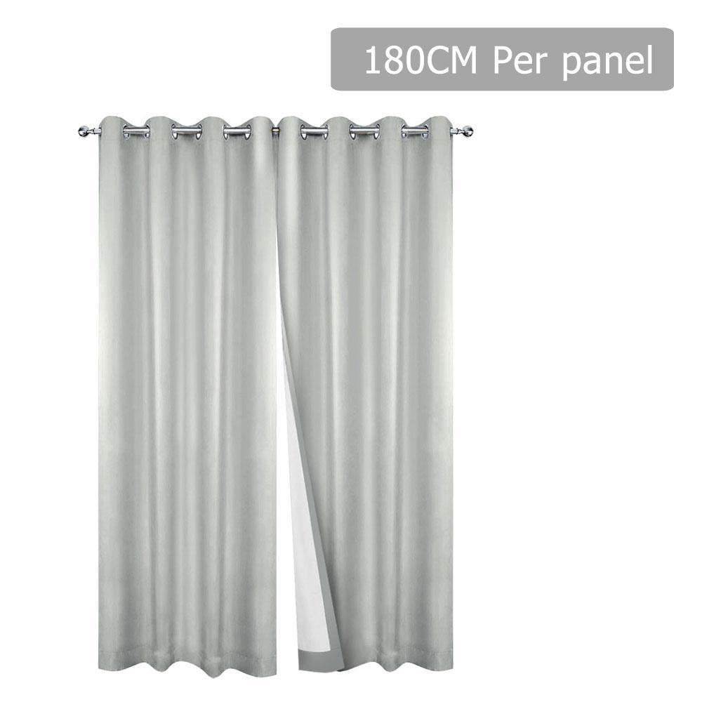 Set of 2 180CM Blockout Eyelet Curtain – Ecru