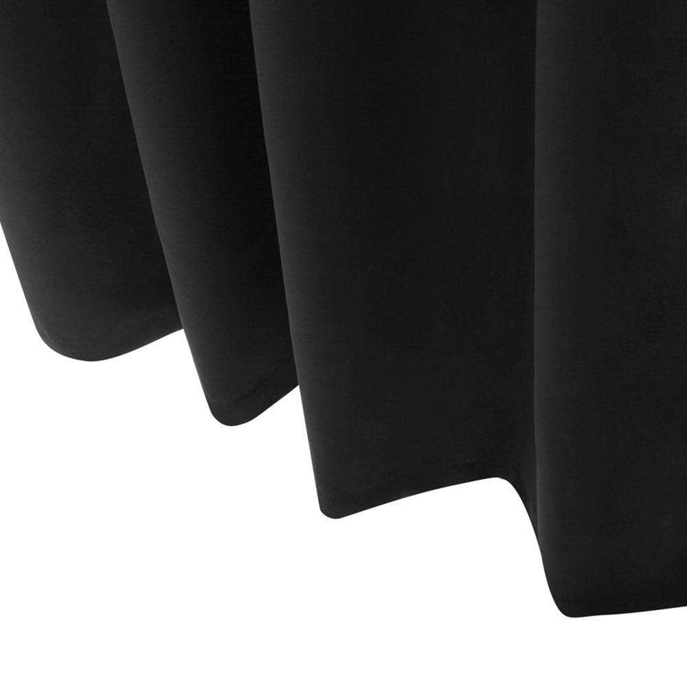 Art Queen 2 Panel 240 x 213cm Block Out Curtains - Black