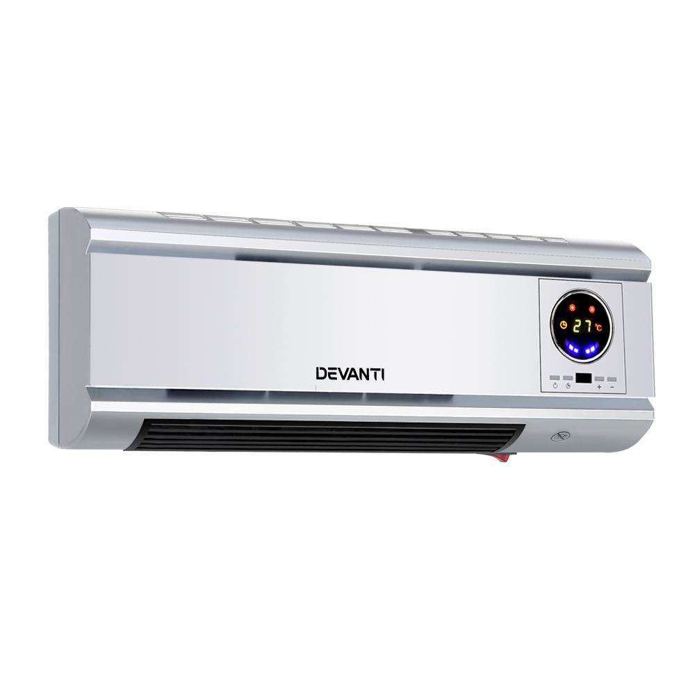 2000W Wall Mounted Panel Heater - Silver