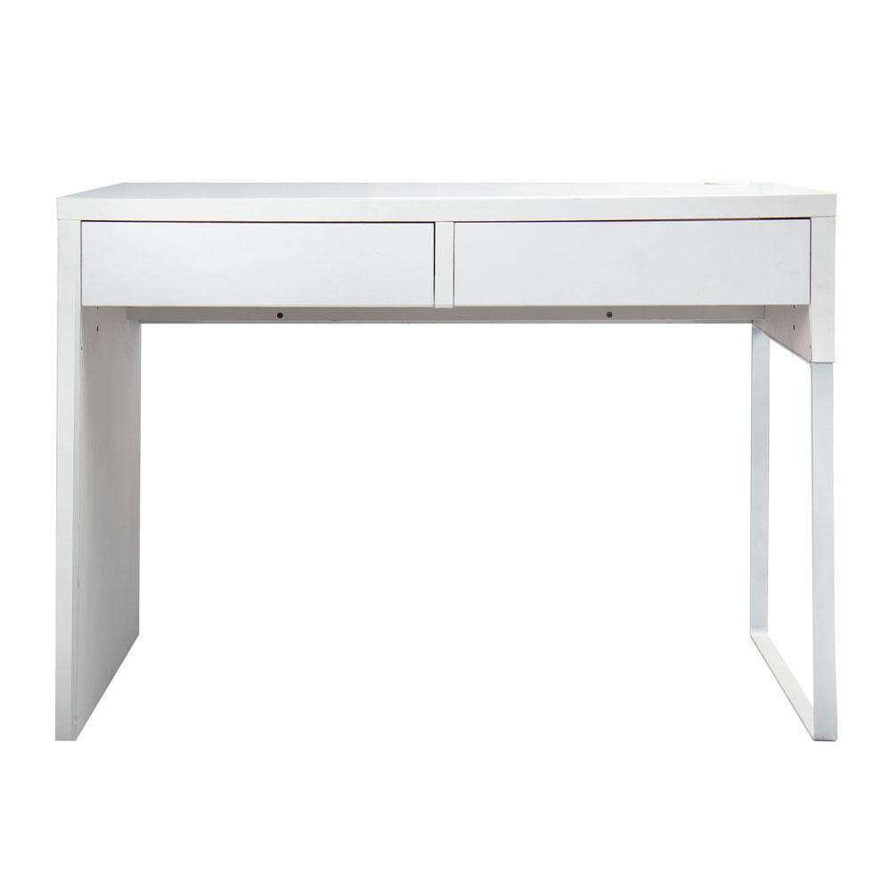 Office Computer Desk Table w/ Drawers White - Desirable Home Living