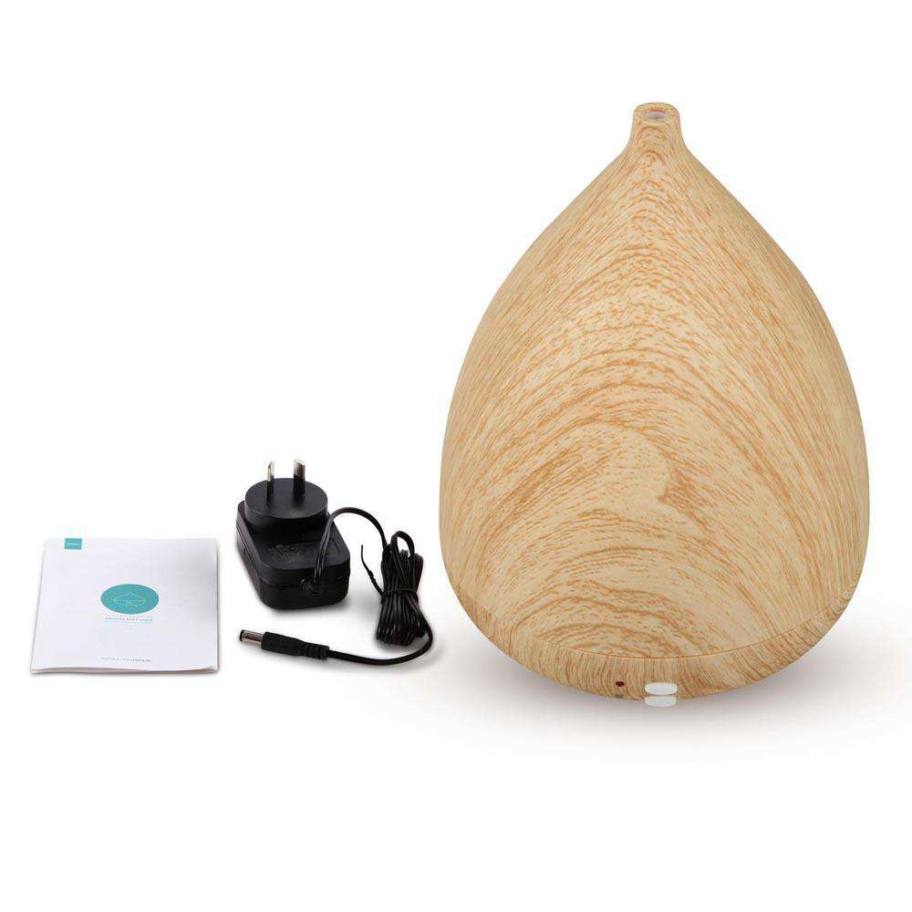300ml 4-in-1 Aroma Diffuser Light Wood - Desirable Home Living