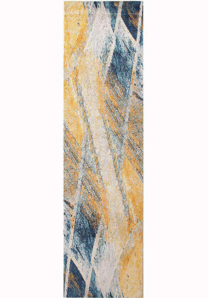 Dimensions Divinity Strokes Blue Modern Rug