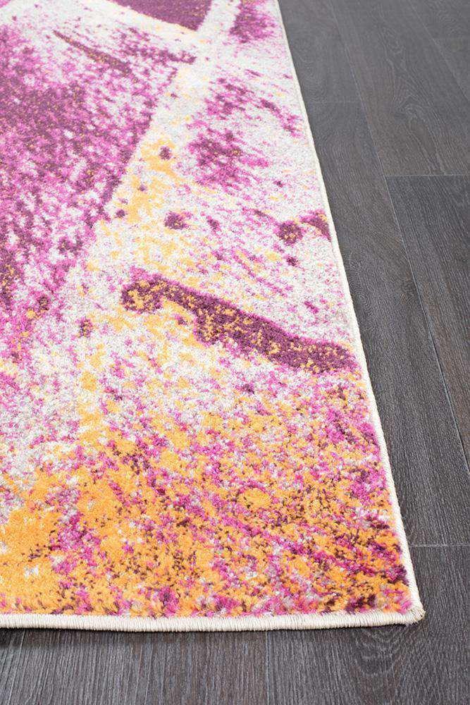 Dimensions Divinity Strokes Violet Modern Rug