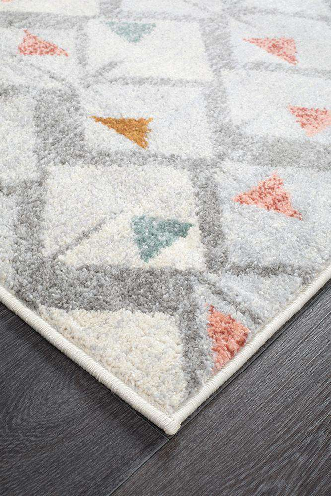 Dimensions Divinity Time Grey Modern Runner Rug