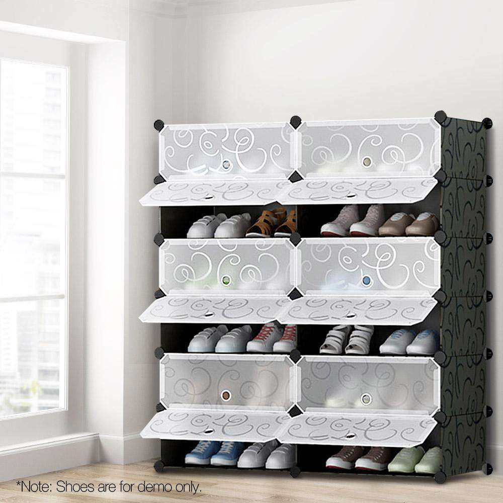 12 Cube Stackable Shoe Storage - Desirable Home Living
