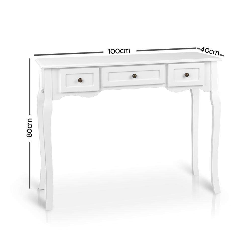 Artiss French Provincial Hall Table - White