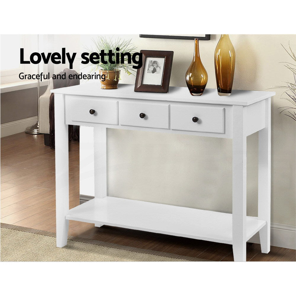 Artiss Console Table French White