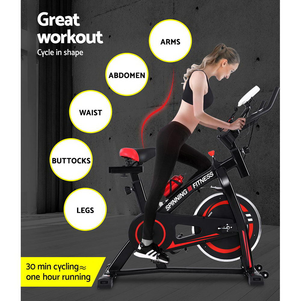 Spin Exercise Bike Black