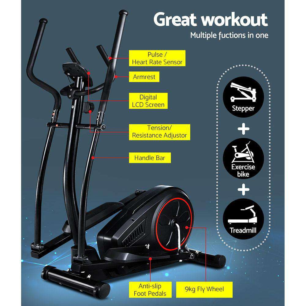 Everfit Elliptical Cross Trainer Exercise Bike