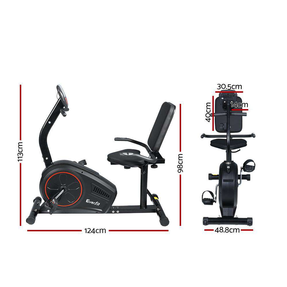 Everfit Magnetic Recumbent Exercise Bike