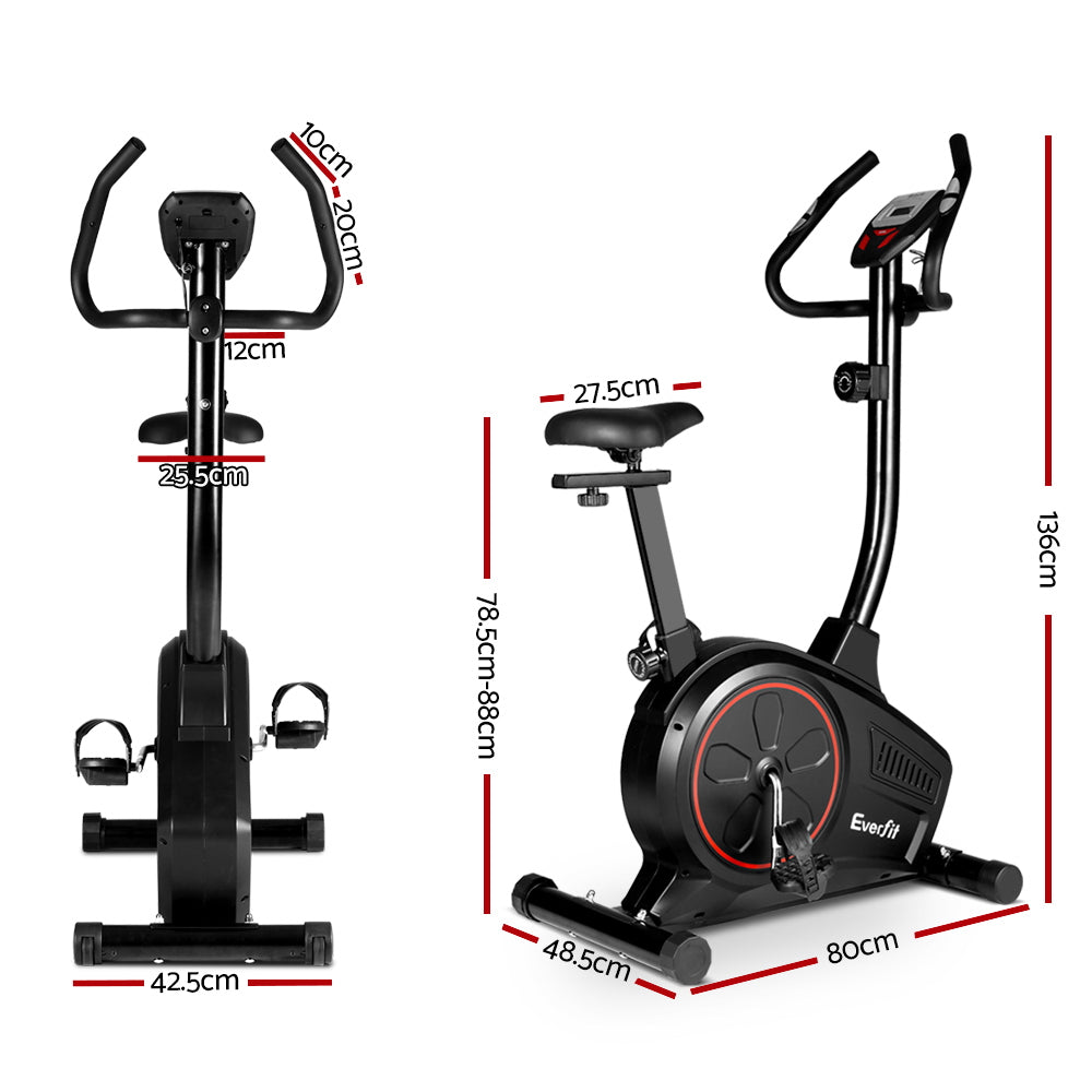 Everfit Exercise Bike Training Bicycle Fitness Equipment Home Gym Trainer Black