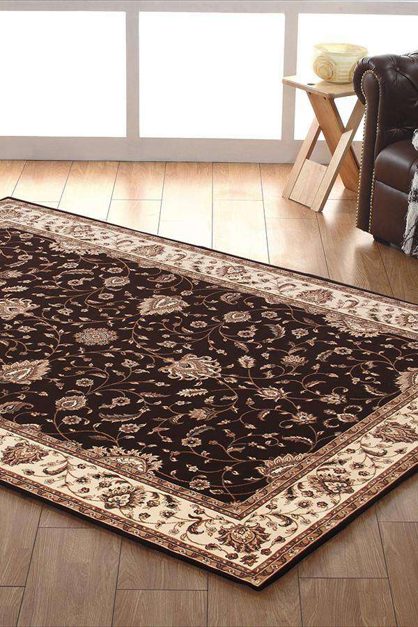 Empire Collection Stunning Formal Classic Design Brown Rug