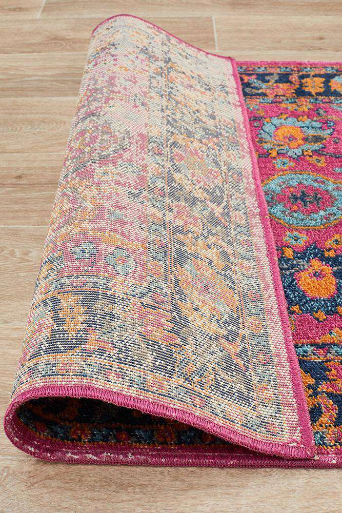 Eternal Whisper Corners Pink Runner Rug