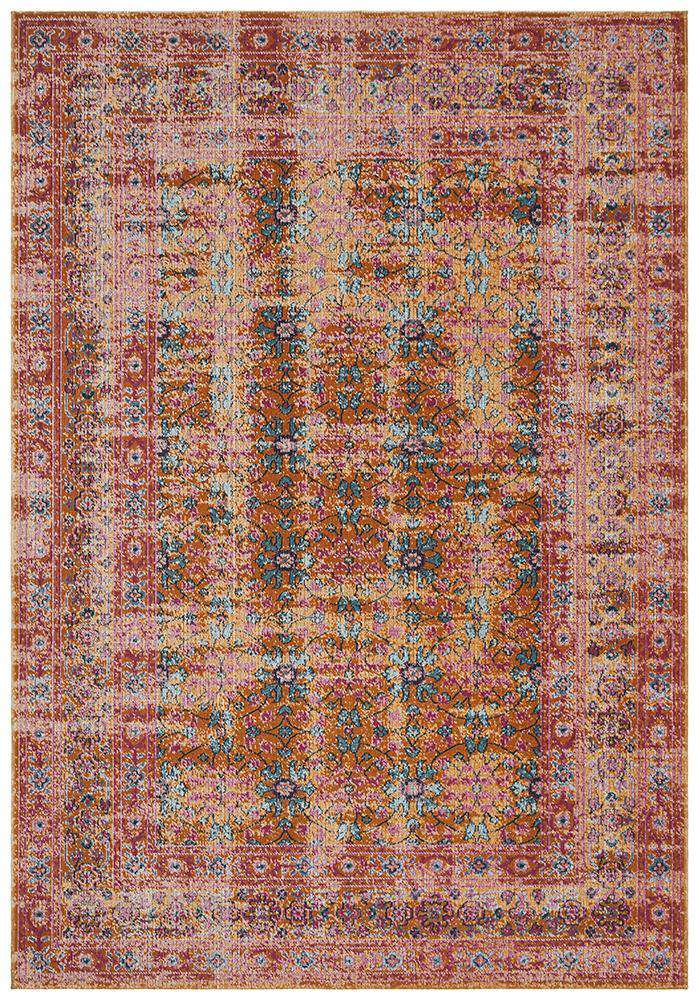 Eternal Whisper Sunset Rust Rug