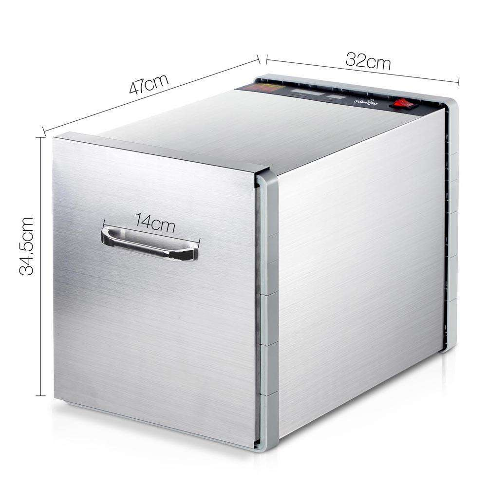 Stainless Steel Food Dehydrator – 10 Trays - Desirable Home Living