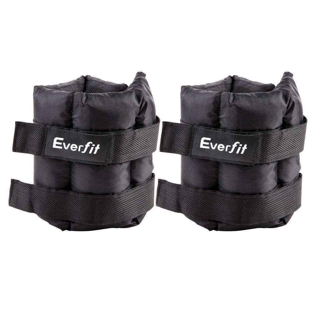 Set of 2 5 kg Wrist Ankle Weights Gym Training w/ Adjustable Pair Strap - Desirable Home Living