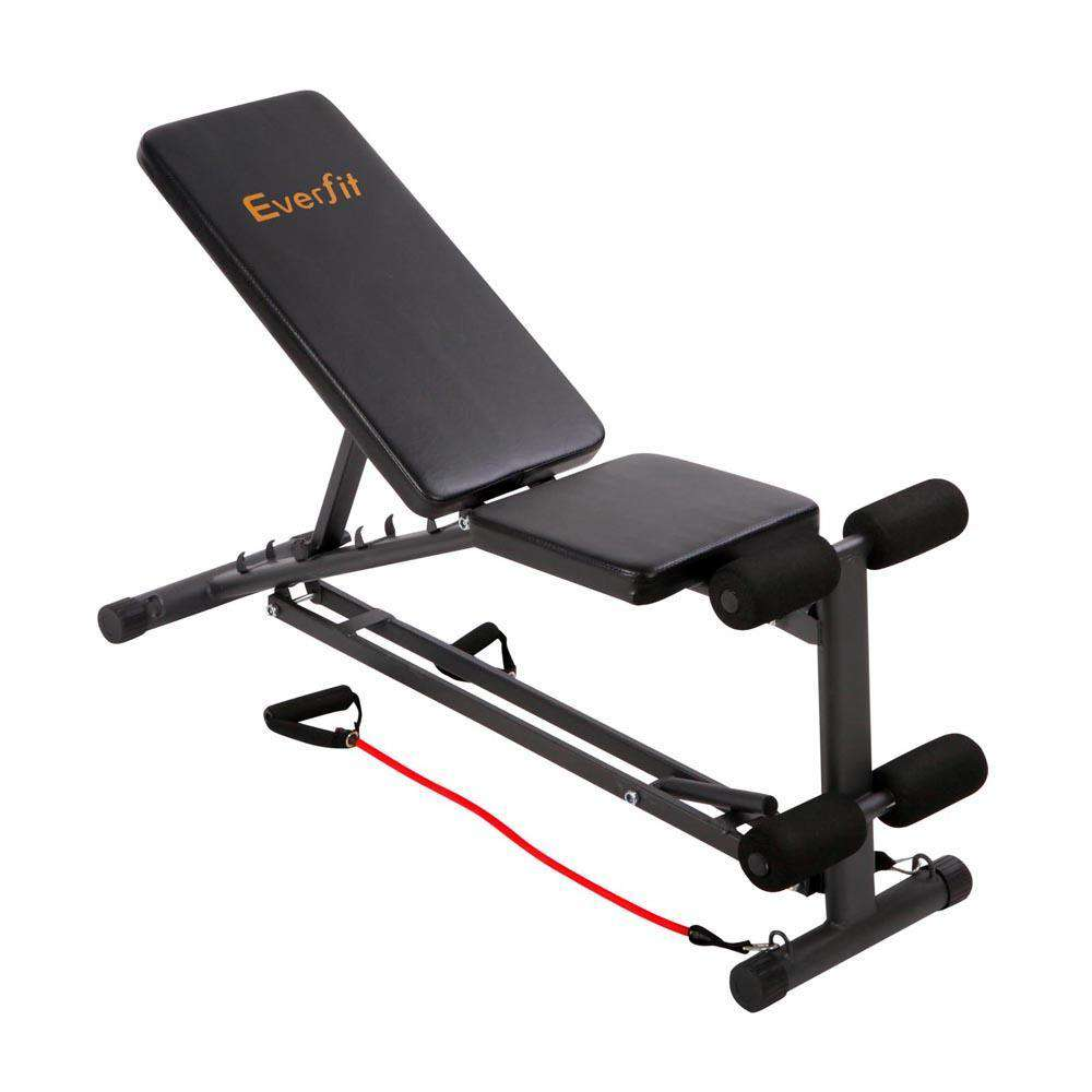 Adjustable F.I.D Bench with Resistance Bands – 118CM