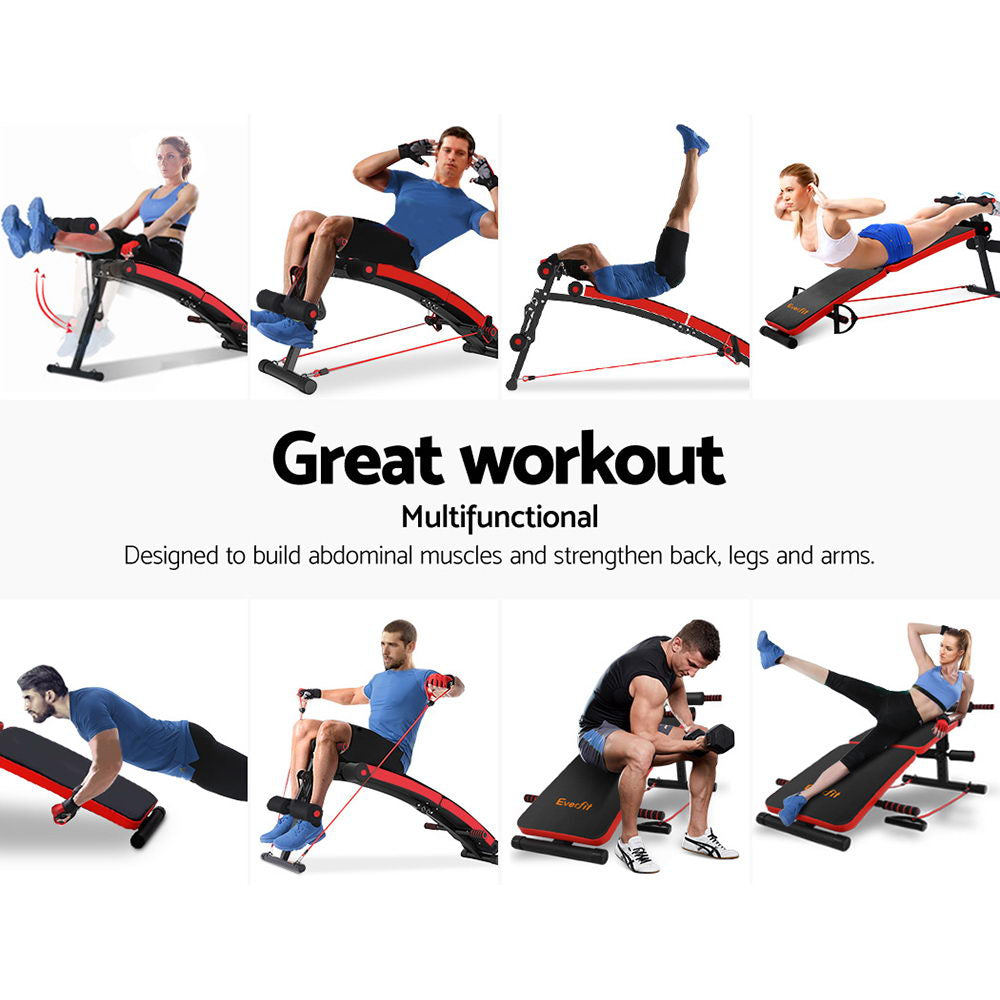 Everfit Adjustable Sit Up Bench Press Weight