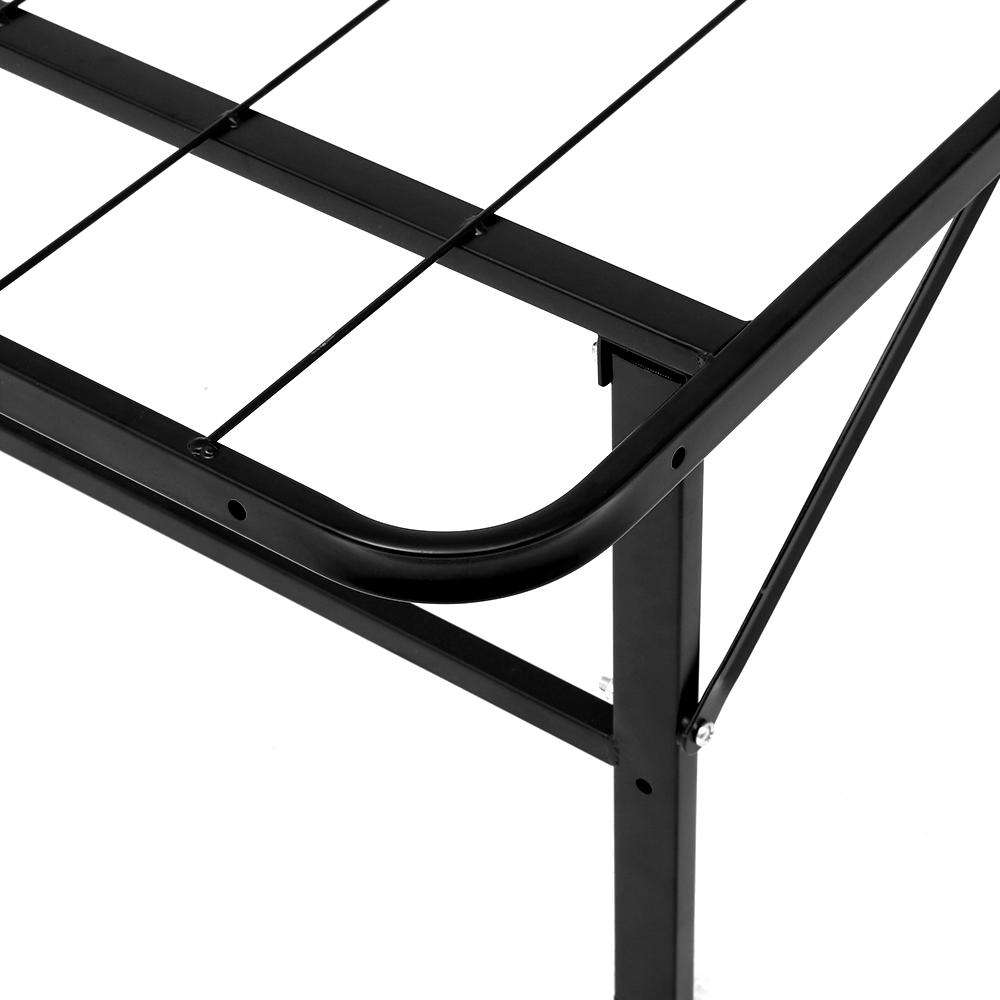 Artiss Foldable King Metal Bed Frame - Black