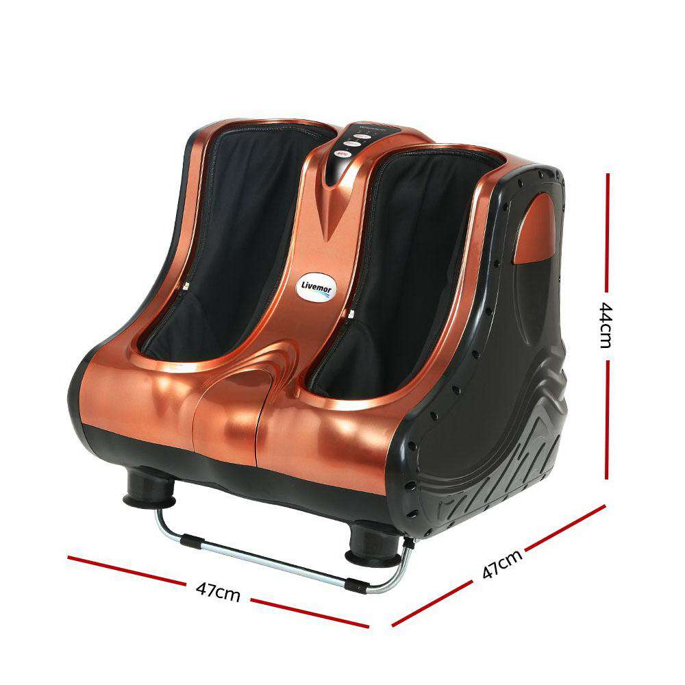 Livemor 3D Foot Massager Shiatsu Machine Rose Gold