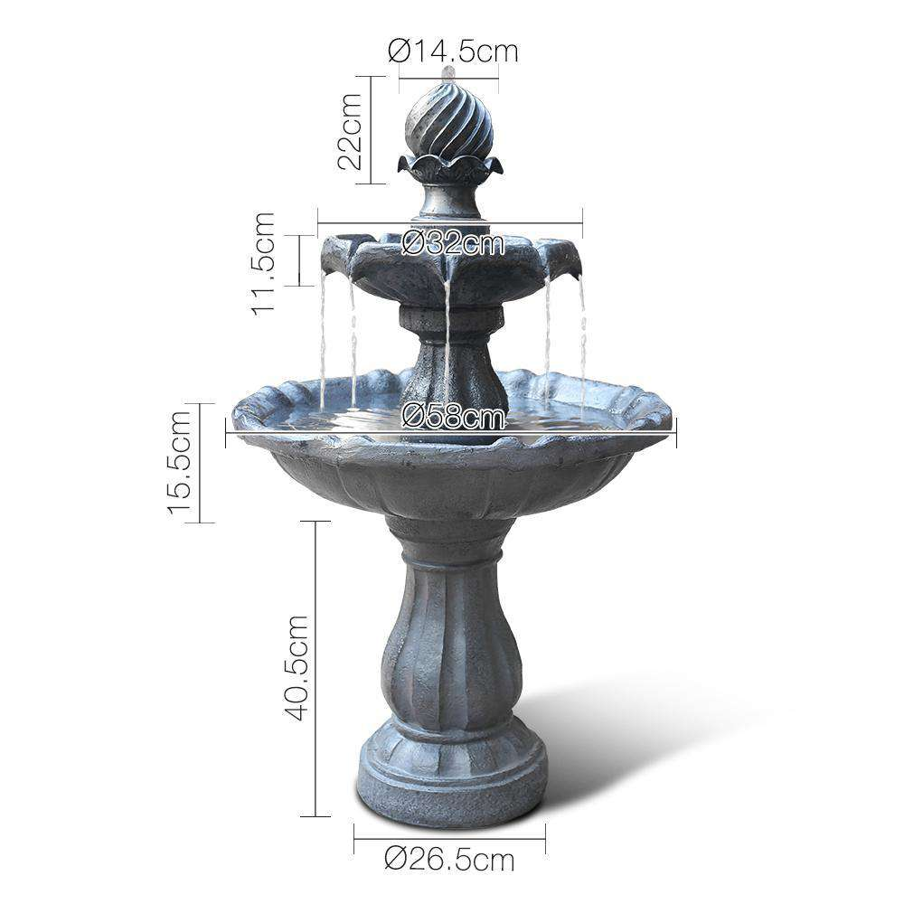 3-Tier Fountain with Solar Panel - Desirable Home Living