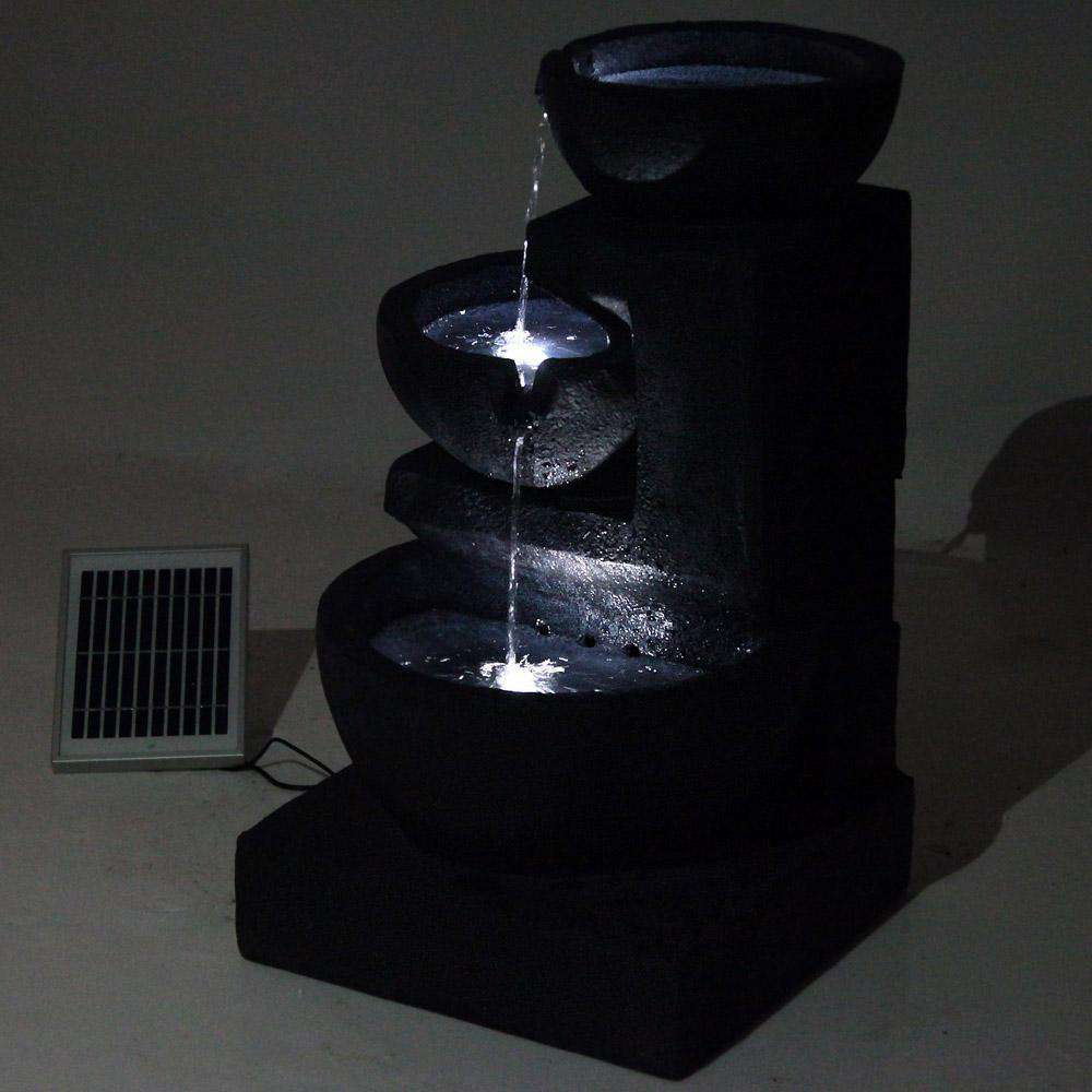 Solar Fountain with LED Lights - Desirable Home Living